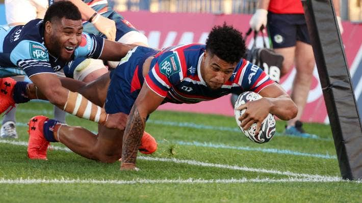 Leicester Fainga'anuku scored a double in Tasman's victory over Northland in Whangarei on Saturday.