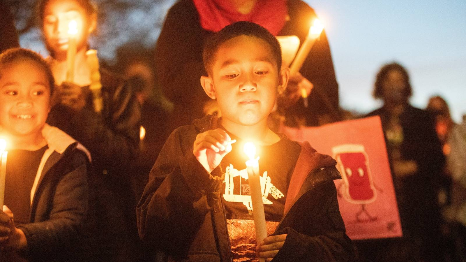 In pictures: Timaru vigil for three girls