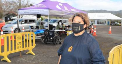 Waikato-Tainui chief executive Donna Flavell was on hand to oversee the mass vaccination event at the Hopuhopu Sports ...
