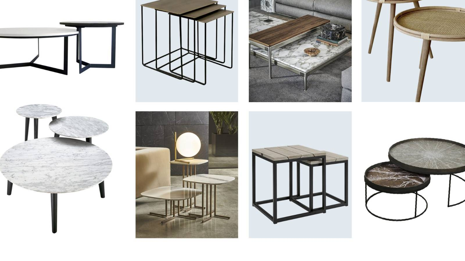 On the table: Handy and practical nesting tables