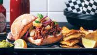 Barbecue Pulled Jackfruit & Pineapple Salsa Burger