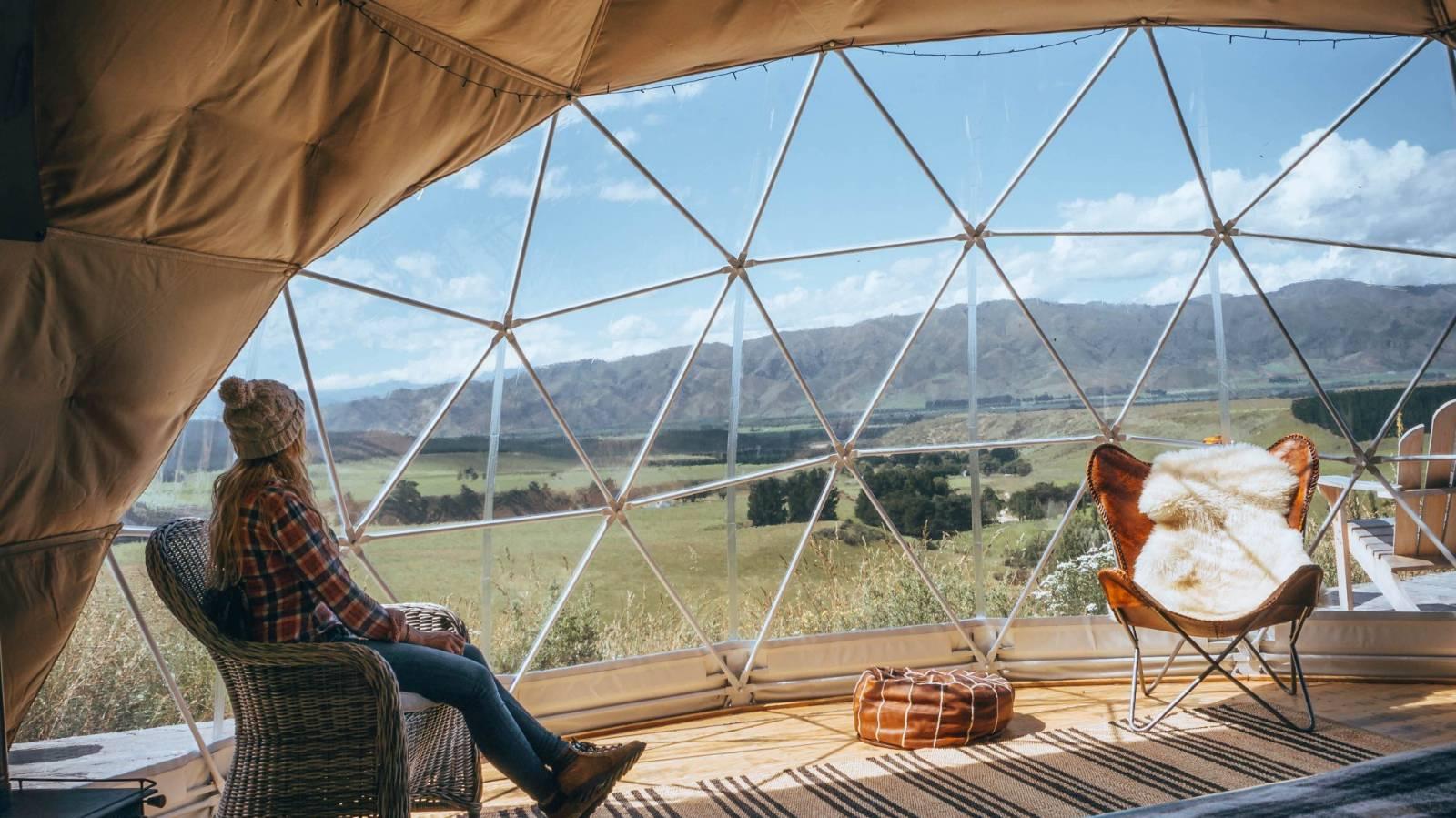 Luxury off-the-grid glamping in Otiake