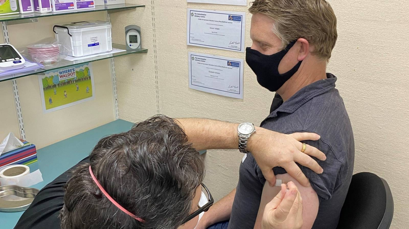100 per cent vax rate among top business leaders