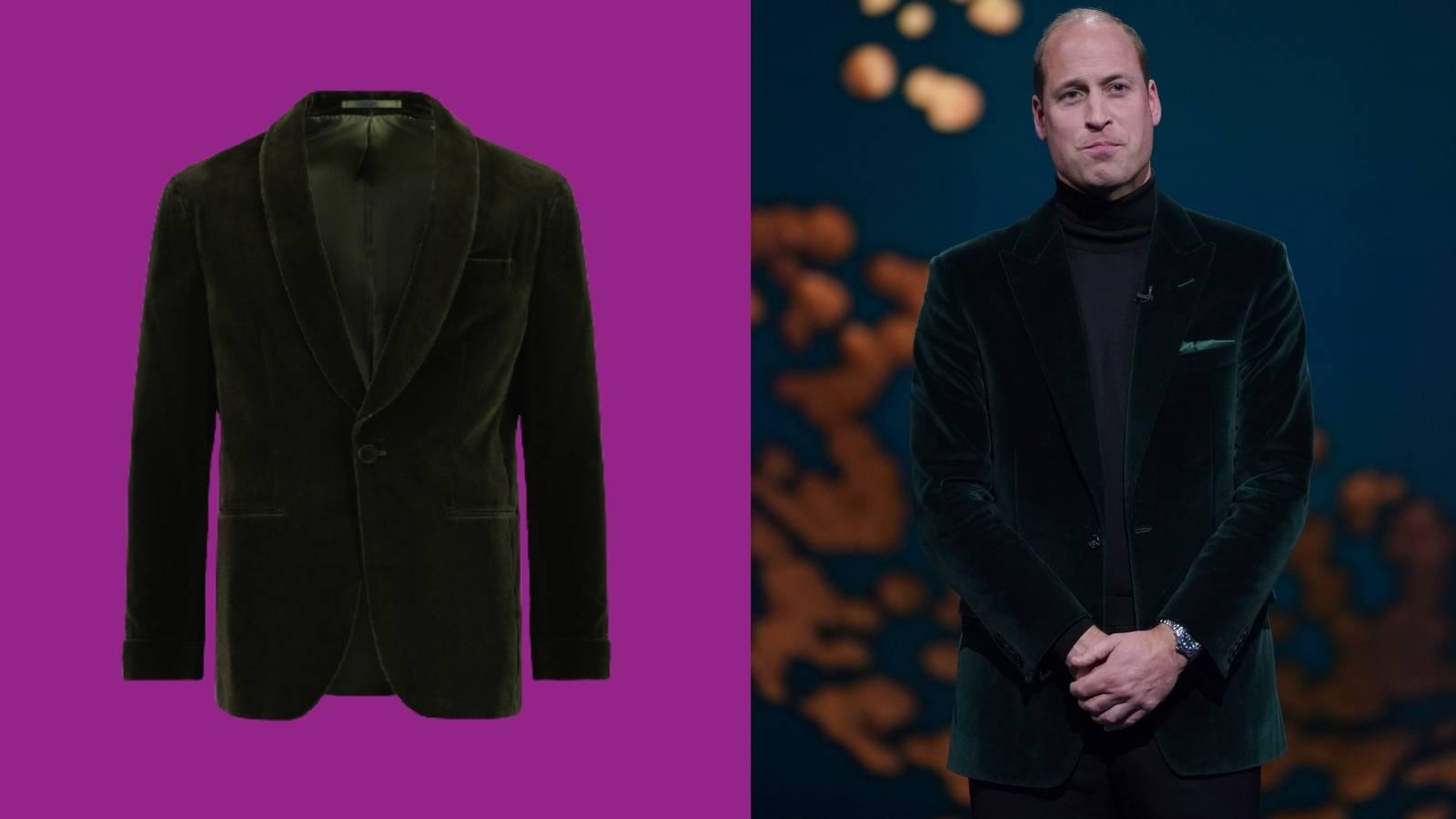 What on earth inspired Prince William's 'green' velvet jacket?