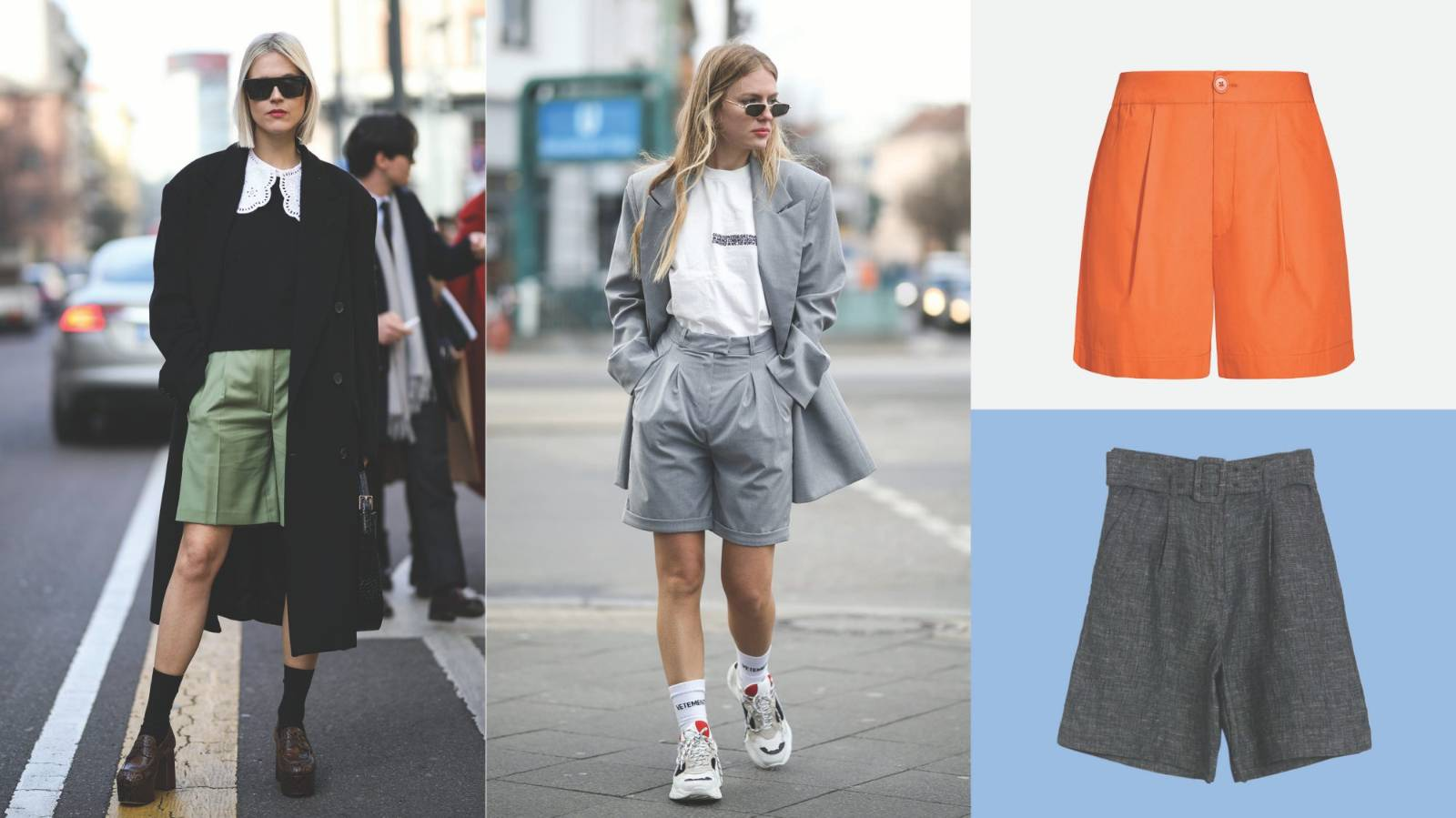 The short suit is the newest and coolest version of the work suit