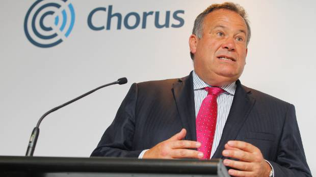 CUT AND RUN: Chorus Chief Executive Mark Ratcliffe.