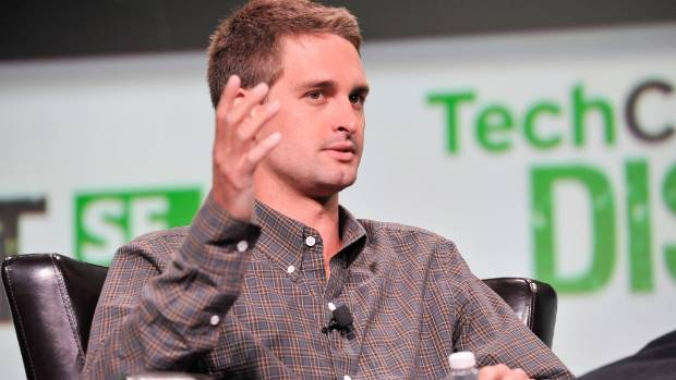 HANDWAVE: SnapChat founder  Evan Spiegel attends TechCruch Disrupt SF 2013.