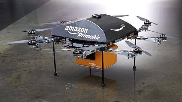 AMAZON PRIMEAIR: CEO Jeff Bezos announces online retailer is working on a new delivery method using an octocopter drone.