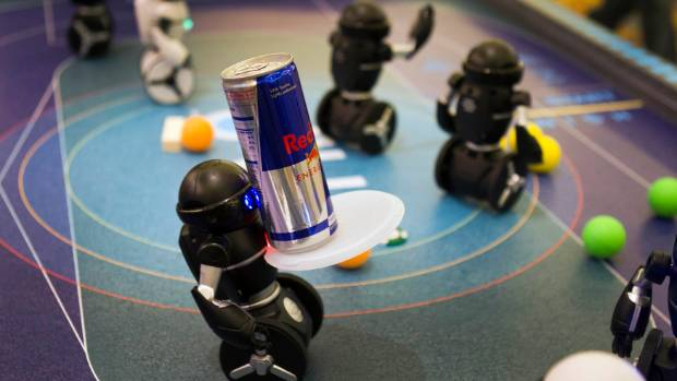 MiP miniature robots by WowWee of Canada are shown during the 2014 International Consumer Electronics Show in Las Vegas.