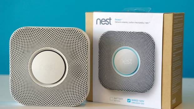 SMART HOMES: The Nest smoke and carbon monoxide alarm.