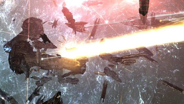 EPIC REAL TIME: A humongous space battle takes place in EVE Online - by far the largest in the 10-year history of the ...