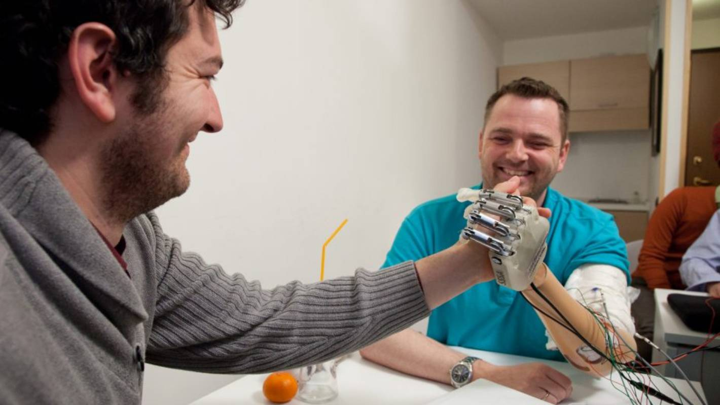Adding a sense of touch to artificial hands