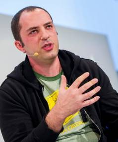 BLOODY RICH VALENTINE: WhatsApp founder Jan Koum at the Digital Life Design conference in Munich earlier this year.