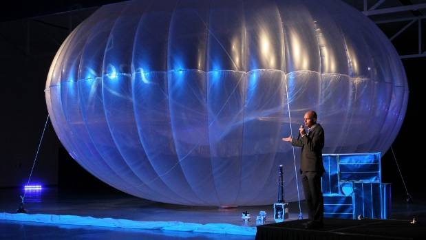 FLYING HIGH: The launch of Google's Project Loon, world wide internet connectivity at the Air Force Museum in Wigram in ...