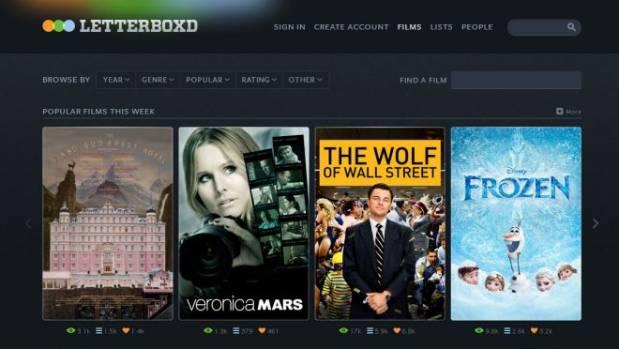 LETTERBOXD: Social media platform for movie buffs.