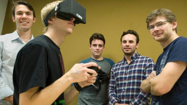 DREAM TEAM: Oculus' Nate Mitchell, Palmer Luckey, Michael Antonov and CEO Brendan Iribe, alongside hardware engineer ...