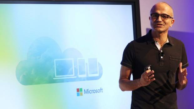 NEW BOSS: Microsoft CEO Satya Nadella makes his first major public appearance since taking the helm of the world's ...