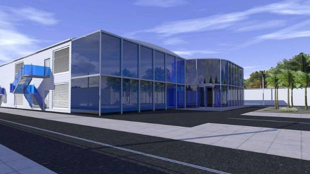 A mock-up of the proposed data centre.