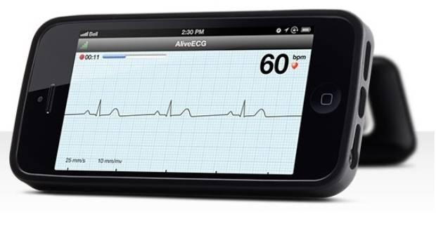 CASE CLOSED: The AliveCor Heart Monitor smartphonec case.