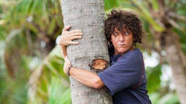 White comedian Chris Lilley dons a wig and dark makeup to play Tongan Jonah Takalua.
