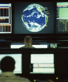 ON THE PROWL: A Symantec Security Response Centre.