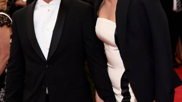 Sean Penn and actress girlfriend Charlize Theron on the red carpet.