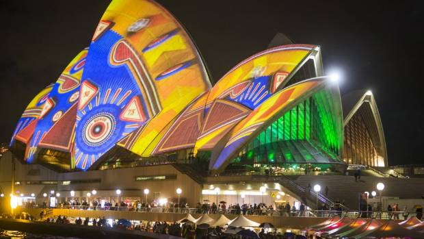 Cutting edge: The Sydney Opera House during Sydney's Vivid festival.