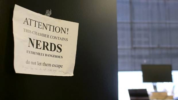 BEHIND THE SCENES: A sign hangs on the door of an office at Reddit headquarters in San Francisco.