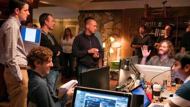 BEHIND THE SCENES: HBO's Silicon Valley follows the bizarre adventures of an internet start-up.