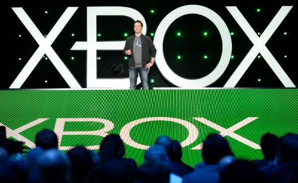 Phil Spencer, head of Microsoft's Xbox division and Microsoft Studios, during the Xbox E3 Media Briefing at USC's Galen ...