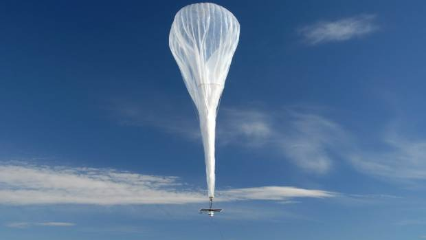 Google's balloons are powered by solar energy and each can provide internet to areas of over 12000 square kilometres.