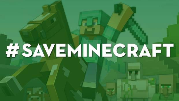 HASH OF IT: Angry players launch a Twitter campaign to prevent Mojang from changing the way multiplayer Minecraft games work.