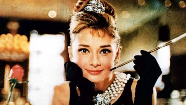 "Audrey Hepburn as Holly Golightly in ""Breakfast at Tiffany's""."
