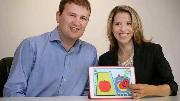 TOY TECH: Duncan Milne and Anna Kirschberg, creators of Junior Learning, are developing children's touchtronic ...