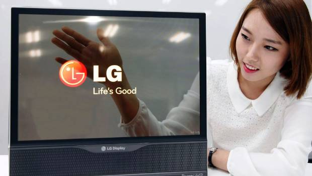 CLEAR AND PRESENT: LG's new semi-opaque display.