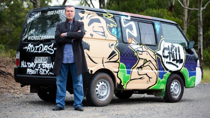 ca0ed743bd Wicked Campers founder and owner John Webb has been silently defiant in the  face of the
