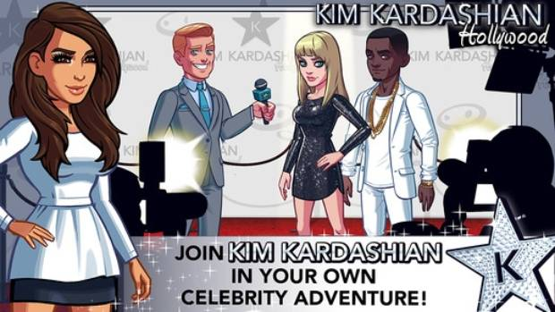HOLLYWOOD HACKS: Kim Kardashian's videogame app has players creating their own celebrities.