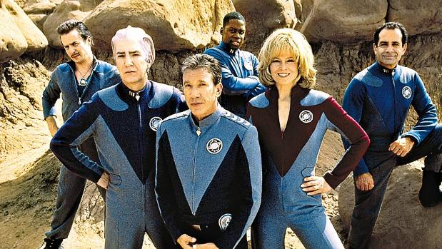 Tim Allen (front centre) starred in cult movie Galaxy Quest.